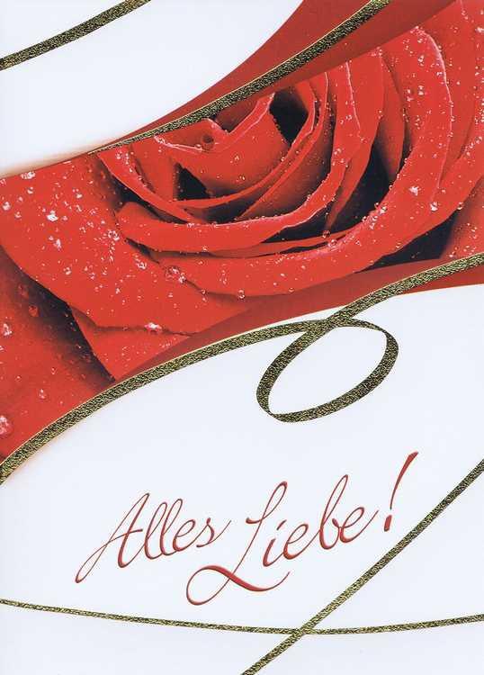 Karte Alles Liebe 41-11-018 Rose