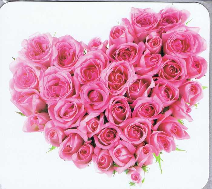 Grusskarte gefülltes Rosen-Herz
