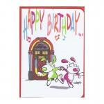 """Kleine Karte Happy Birthday """"Musikbox"""""""