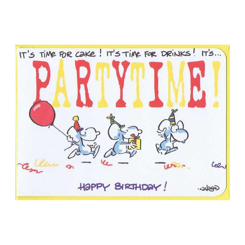 """Kleine Karte zum Geburtstag """"Partytime"""""""