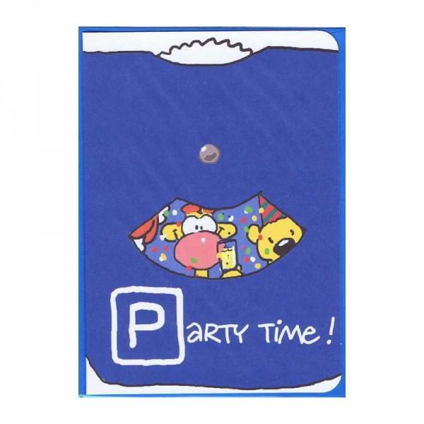 Kleine Geburtstagskarte Party Time! - Parkscheibe