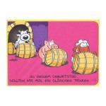 """Kleine Geburtstagskarte """"Herzlichen Glückwunsch"""" - ein Gläschen Trinken"""