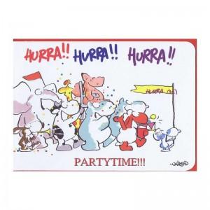 """Kleine lustige Geburtstagskarte """"Hurra!! Hurra!! Hurra!! Partytime!!!"""""""