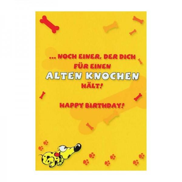 """Geburtstagskarte mit Humor """"Alten Knochen"""""""
