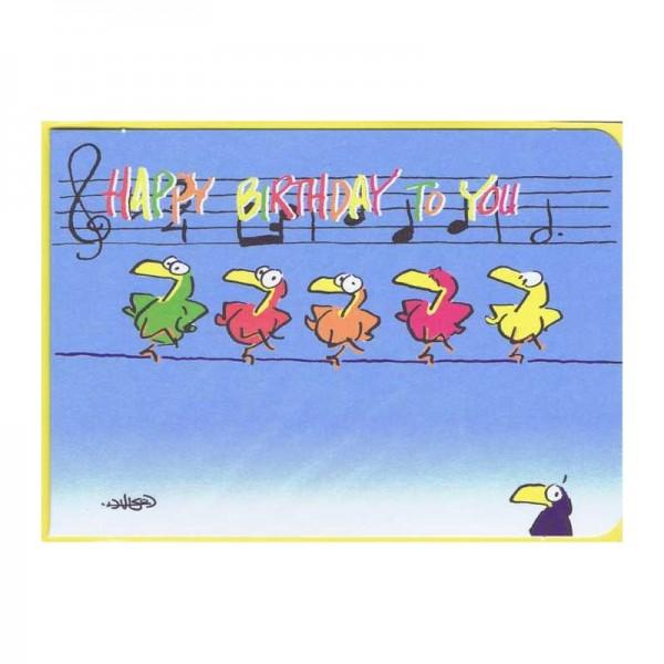 """Kleine Geburtstagskarte Tonleiter """"Happy Birthday"""""""