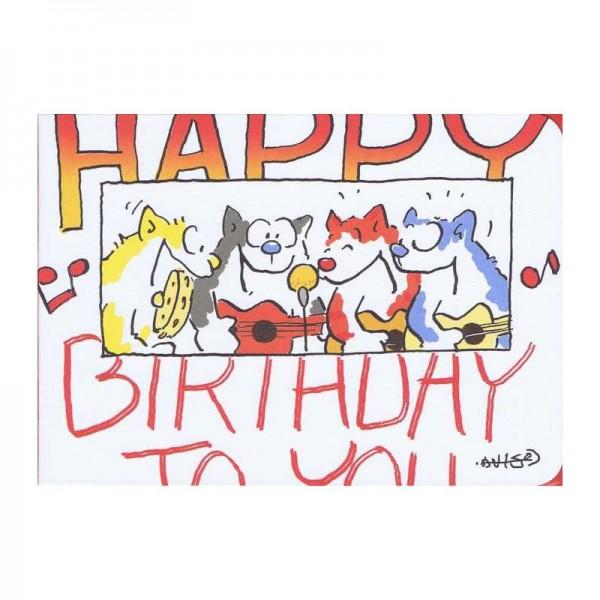 """Kleine Geburtstagskarte Musiker """"Happy Birthday"""""""