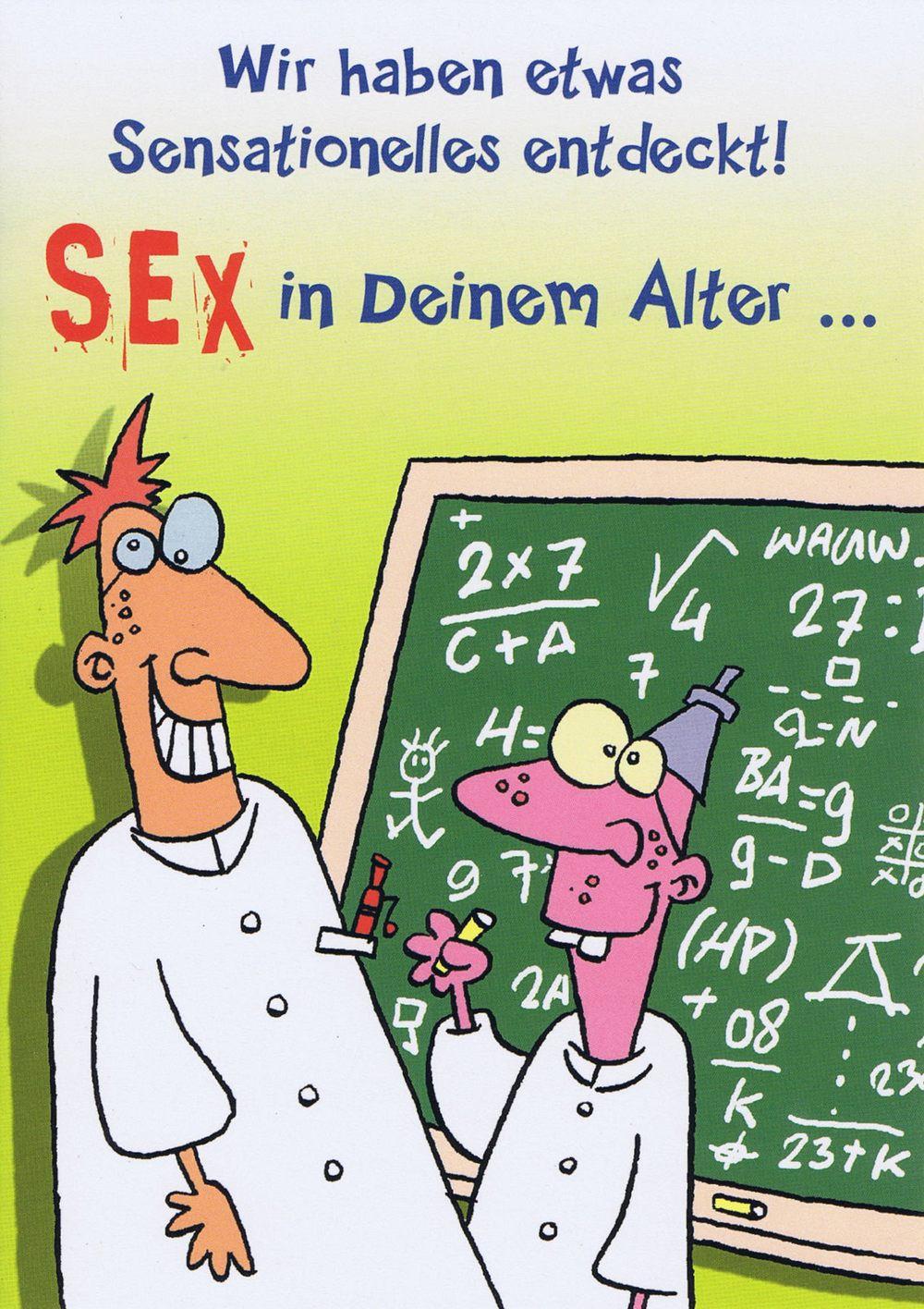 Freche Geburtstagskarte – Sex in deinem Alter | Kartenwichtel.de