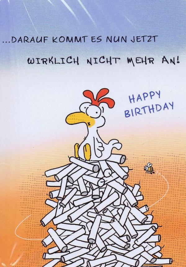 Geburtstagskarte Chicken and Friends: Is' doch nur ein Kerzchen mehr
