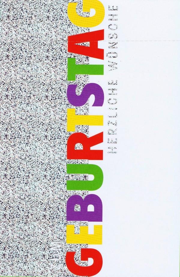 Geburtstagskarte mit Silberfolie - Zum Geburtstag Herzliche Wünsche