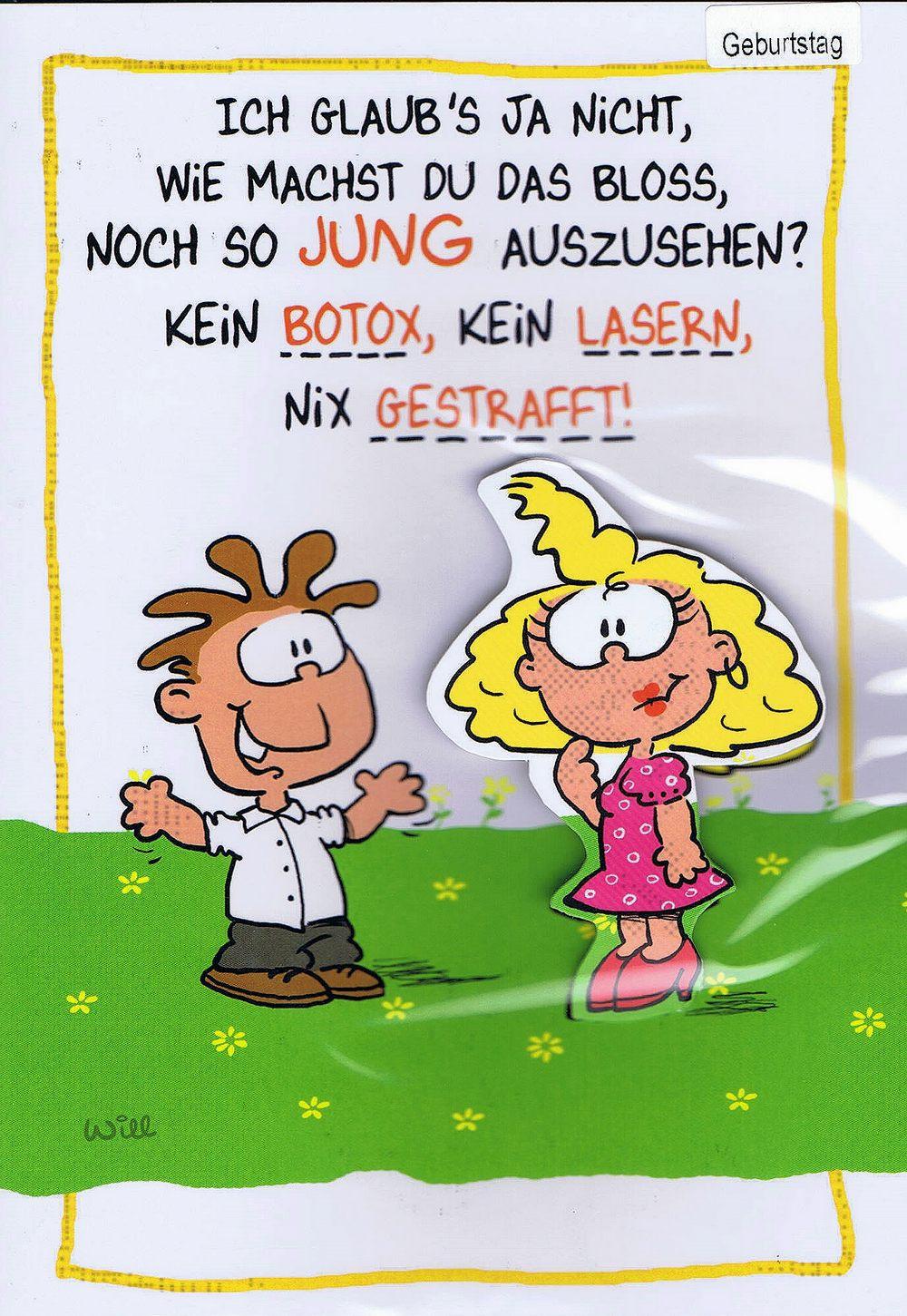 Humorkarte zur Geburtstag mit frechem Spruch - Naturschutz