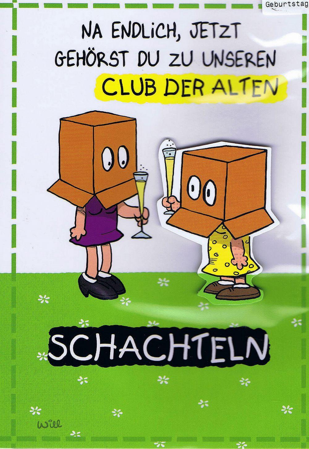 Alte Schachtel Geburtstag Geburtstag