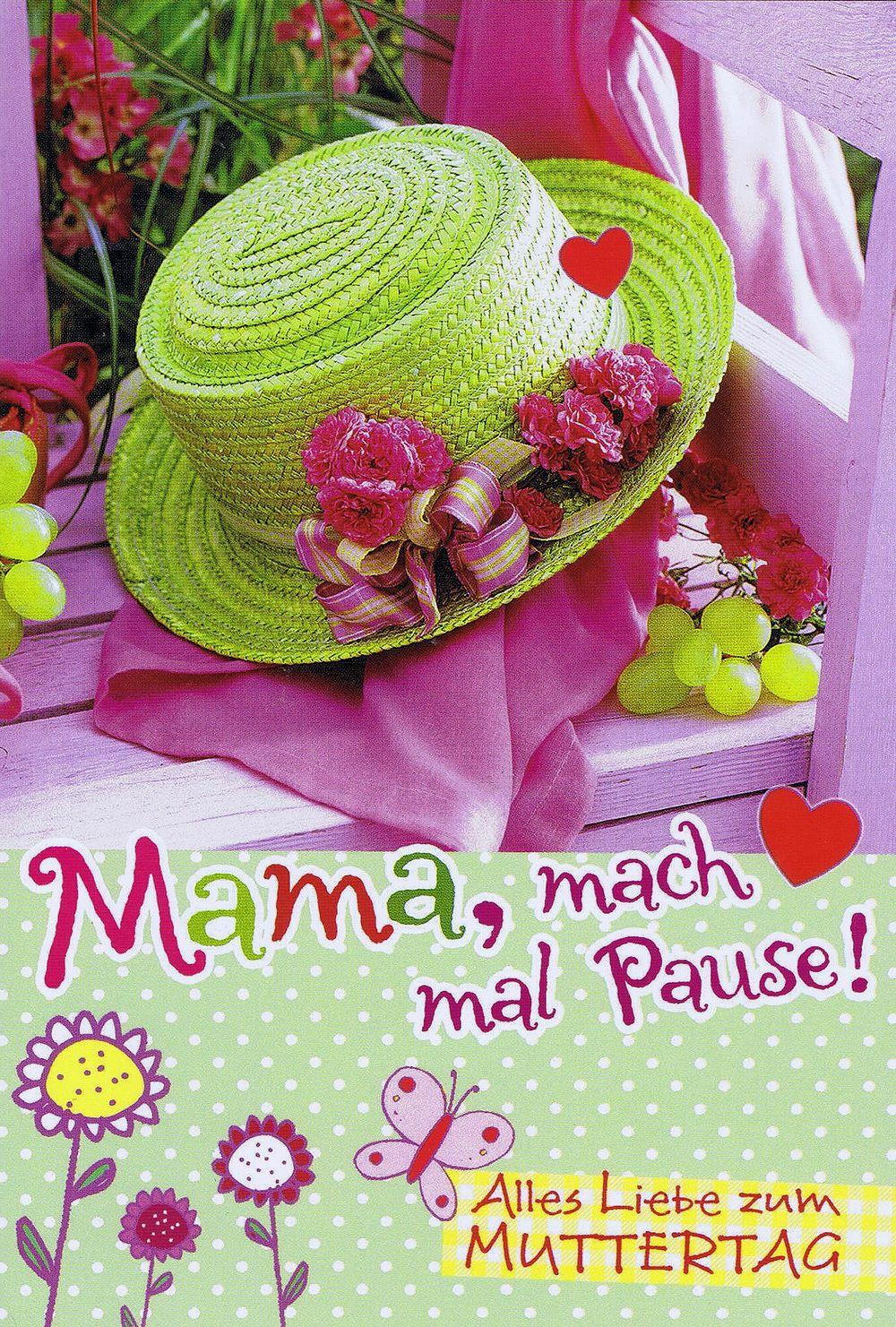 Karte Muttertag: Mama mach mal Pause