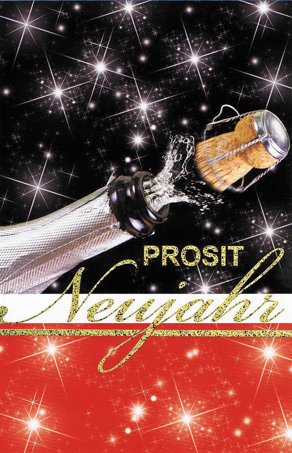 Prosit Neujahr - Sektkorken knallen