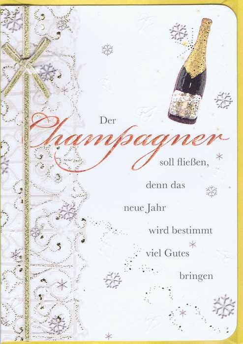 Handgearbeitete Neujahrskarte