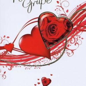 Karte zum Valentinstag 95-10-001, Herzliche Grüße