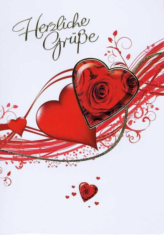 Karte Zum Valentinstag 95 10 001, Herzliche Grüße