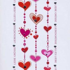 Karte zum Valentinstag 95-10-002, Liebesgrüsse