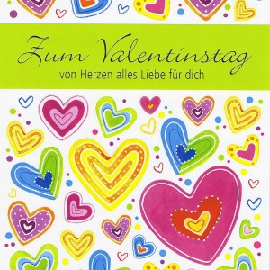 Karte zum Valentinstag von Herzen alles Liebe für dich