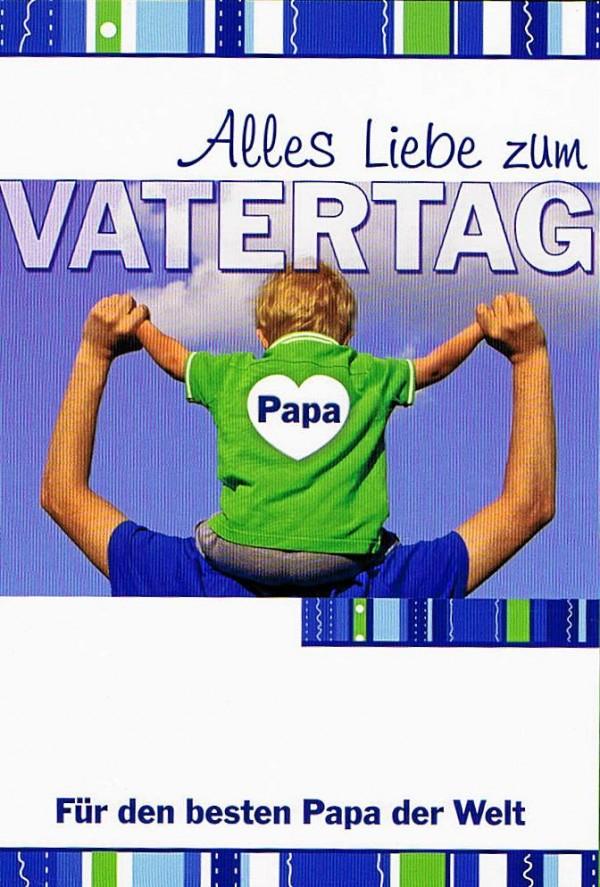 Karte zum Vatertag, Für den besten Papa der Welt