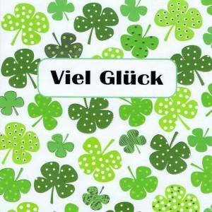 """Quatratische Grusskarte """"Viel Glück"""""""