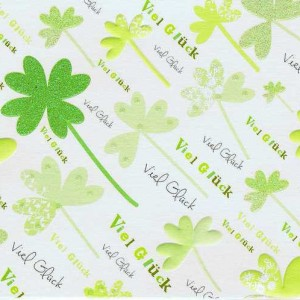 """Grusskarte mit Glimmer """"Viel Glück"""""""