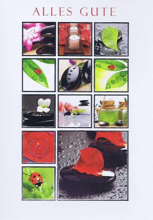Karte Alles Gute 41-11-016 Glückssymbole, Ruhe und Ausgeglichenheit, Wellness