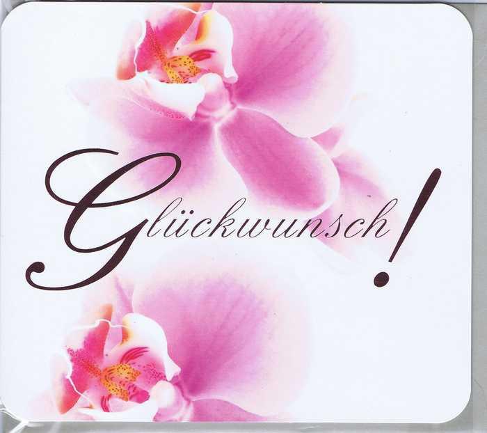 Glückwunschkarte Orchideen