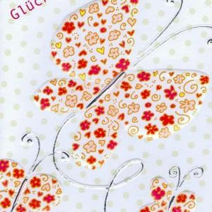 Neutrale Glückwunschkarte mit Schmetterlingsmotiv für viele Anlässe