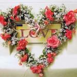 Postkarte mit Glimmer, si131, LOVE