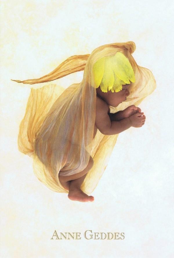 """Zauberhafte Grusskarte """"Beginnings"""" mit Motiv von Anne Geddes 187"""
