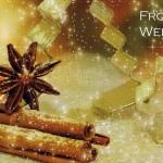 Duftkarte auf Perlmutt-Karton für Ihre Weihnachtsgrüsse Zimtduft