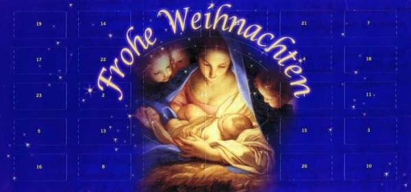 Adventskalender XXL-Briefkarte Die heilige Nacht