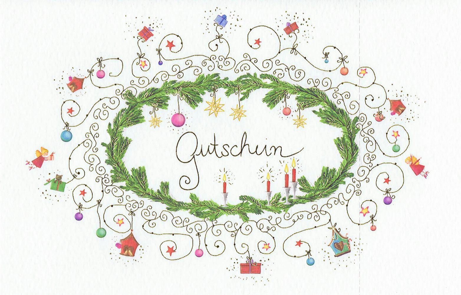 Weihnachtskarte - Gutschein 22sk4013