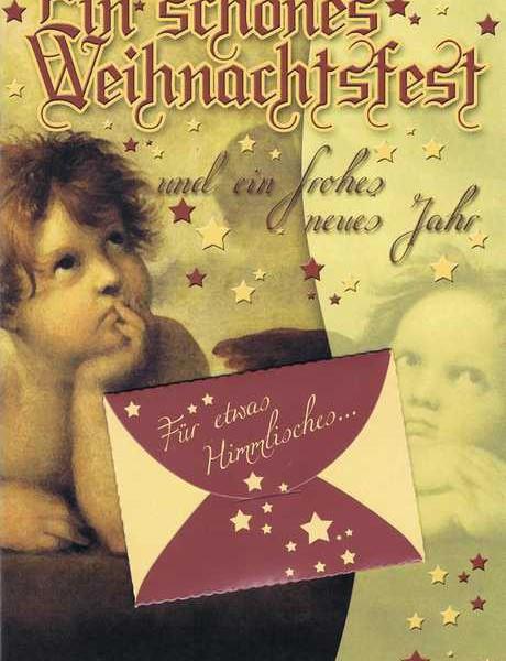 Weihnachtskarte mit extra Geldkuvert - Für etwas Himmlisches