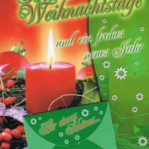 Weihnachtskarte mit extra Geldkuvert - Für etwas Schönes