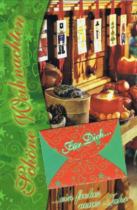 Weihnachtskarte mit extra Geldkuvert - Für Dich