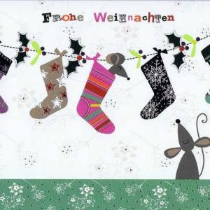 Kleine Weihnachtskarte Weihnachtssocken