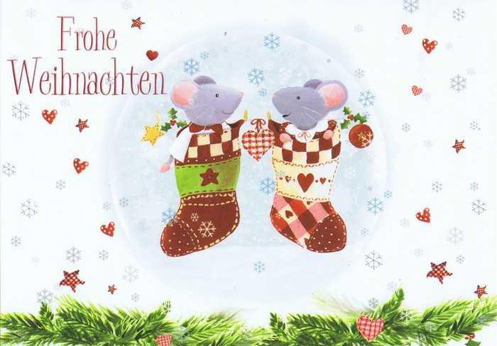 Kleine Weihnachtskarte mit süßen Motiv