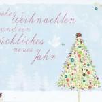 Kleine Weihnachtskarte Weihnachtsbaum