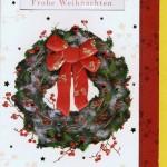 Handgearbeitete Weihnachtskarte Weihnachtskranz
