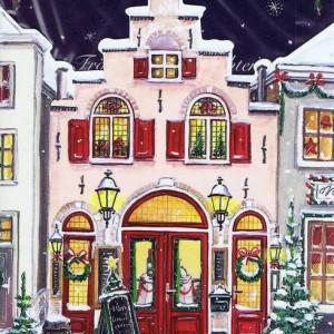 Stylische Weihnachtskarte - Haus Restaurant