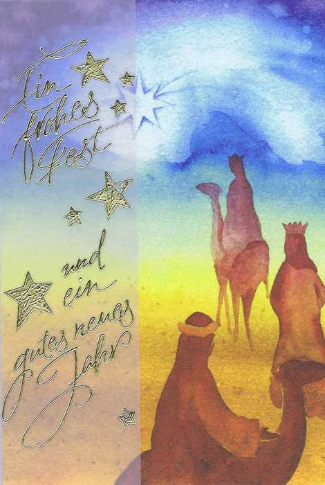 Weihnachtskarte - Heilige 3 Könige