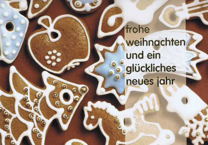 Kleine Weihnachtskarte - Pfefferkuchen