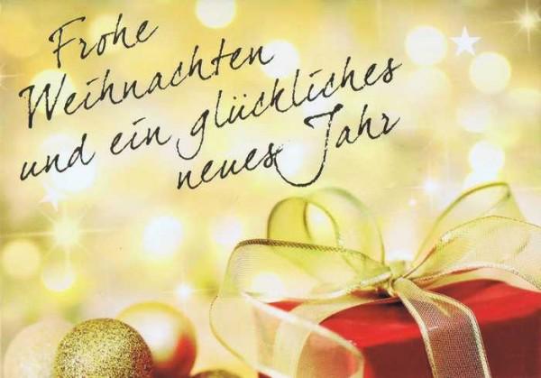 Kleine Weihnachtskarte - Geschenk