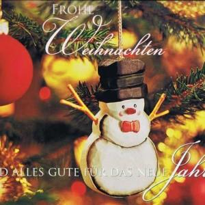 Kleine Weihnachtskarte - Weihnachtsschmuck