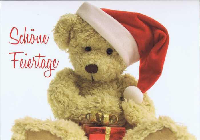 Kleine Weihnachtskarte - Weihnachtsteddy