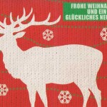 Kleine Weihnachtskarte - Strickmuster