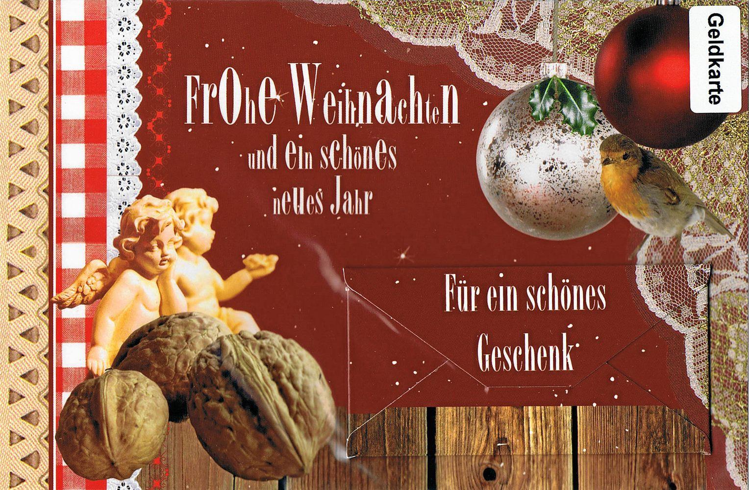 Weihnachtskarte - Geldkarte - Für ein schönes Geschenk
