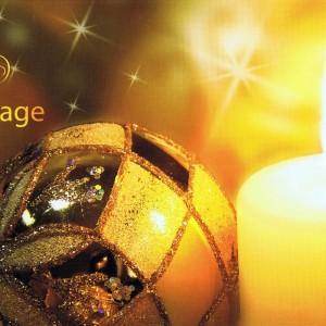 Weihnachtskarte mit Perlmutt-Effekt Schimmernde Weihnacht