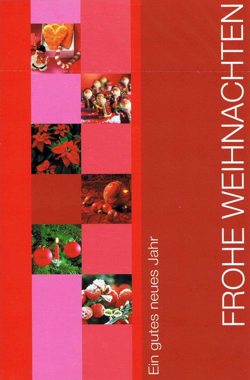 Weihnachtskarte rot - Frohe Weihnachten